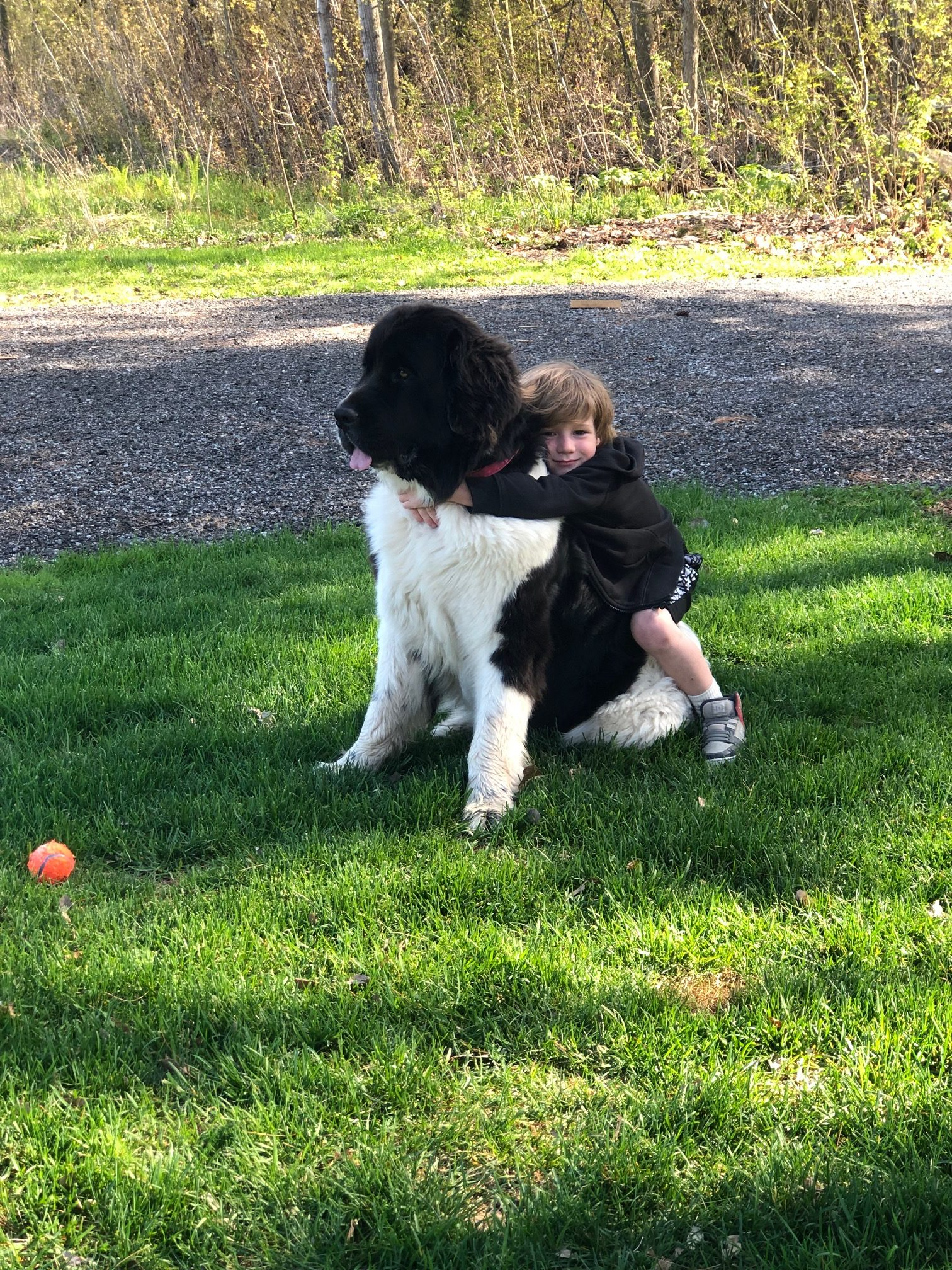 Indie with one of her boys