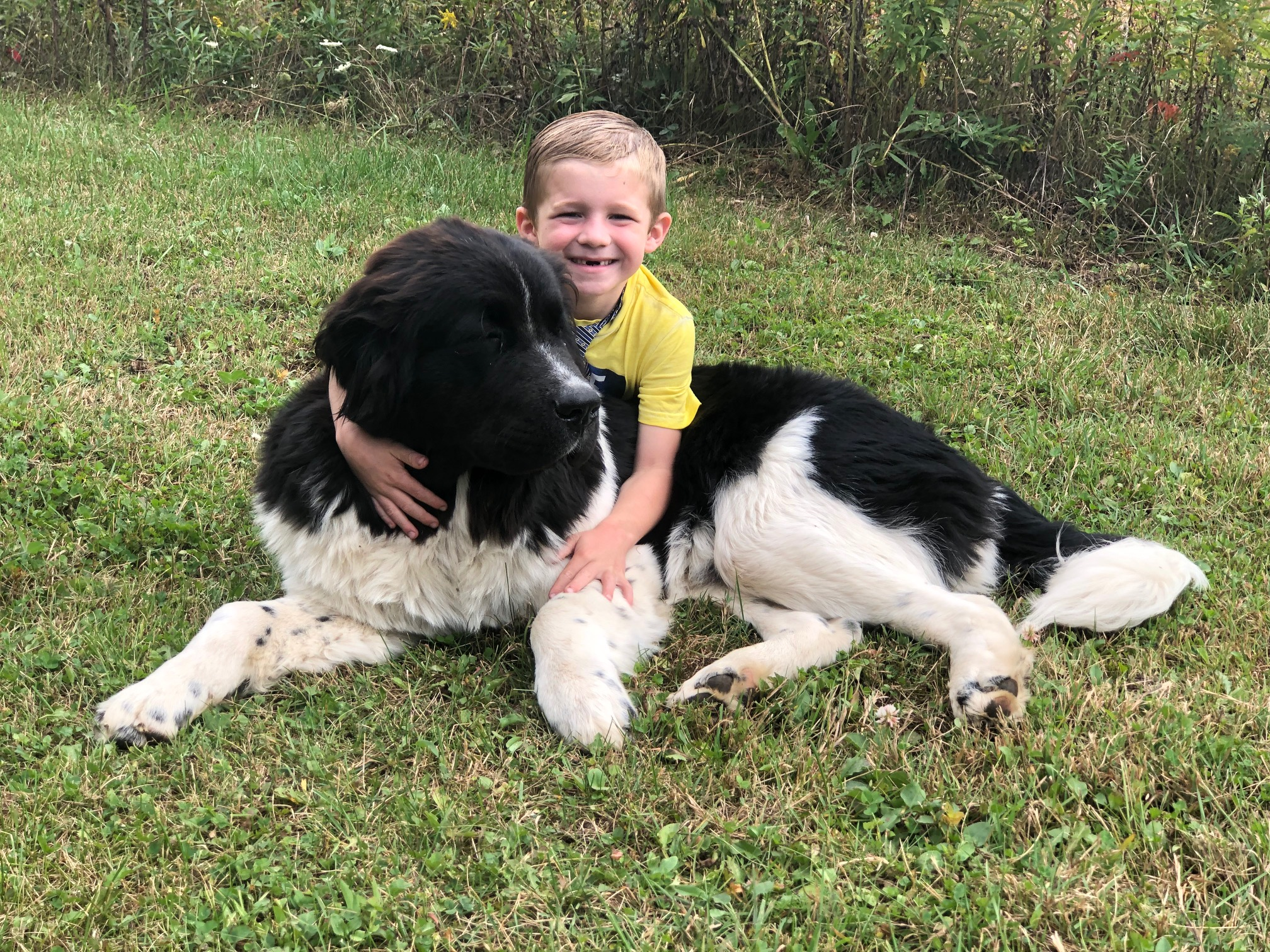 Murphy with one of his boys